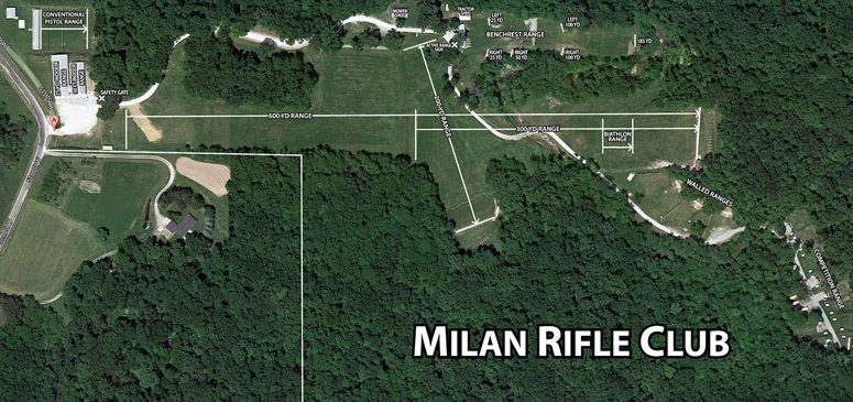 Aerial view of the Milan Rifle Club